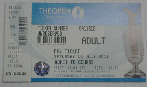 2011 Open Championship tickets